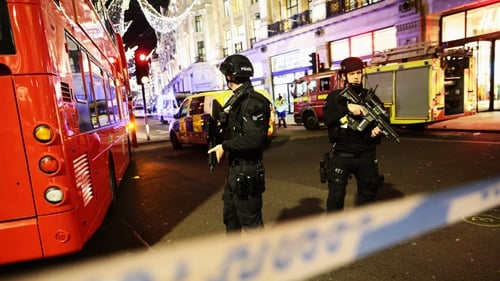 Armed police were deployed following reports of shots fired