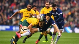 Scotland's rugby resurgence continued as they hammered Australia in Murrayfield