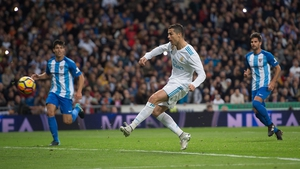 Cristiano Ronaldo scored at the second time of asking
