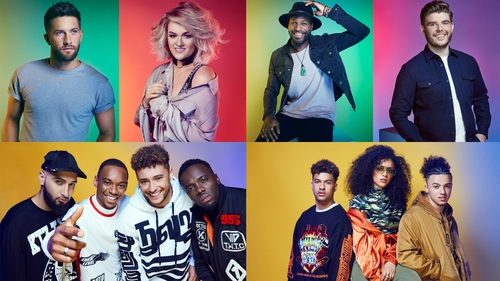 The six X Factor live tour acts, with one extra to be chosen by public vote