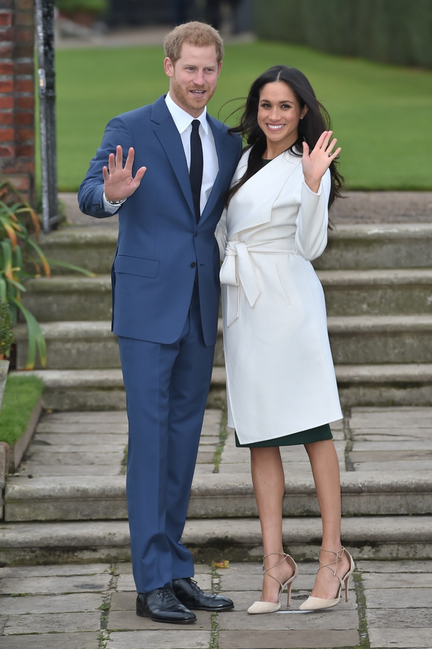 Harry and Meghan on the day they announced their engagement