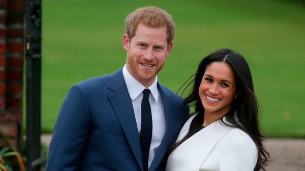 British royal Prince Harry and American actor and model Meghan Markle who announced their engagement last week