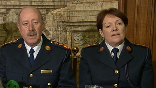 Only one of Nóirín O'Sullivan's (R) six phones was found and two of Martin Callinan's (L) six phones