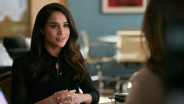 Meghan Markle, now the Duchess of Sussex, as Rachel Zane in Suits