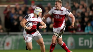 Luke Marshall and Kieran Treadwell in action this season for Ulster