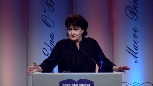 Eavan Boland was given the Lifetime Achievement Award at the Irish Book Awards in 2017
