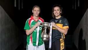 Mournebbey's Brid O'Sullivan alongside Carnacon's Cora Staunton ahead of the All-Ireland ladies club final