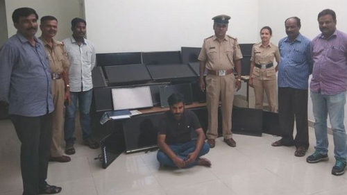 Police in India say that they have recovered 20 of the 120 stolen television sets (Pic: Bangalore Police)
