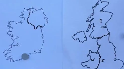 Republic Of Ireland And Northern Ireland Map.Can You Draw The Border With Northern Ireland