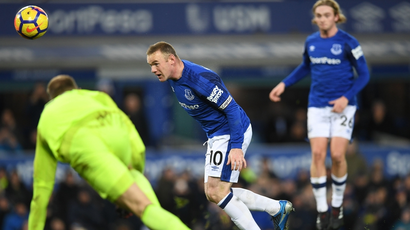 Rooney opens the scoring for the Toffees