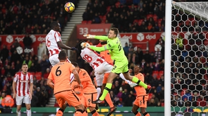 Simon Mignolet was lucky not to be sent off against Stoke