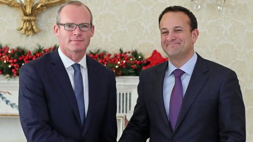 Taoiseach Leo Varadkar named Simon Coveney has his new Tánaiste