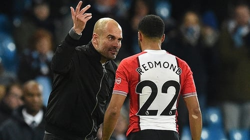 Pep Guardiola spoke to Nathan Redmond after their sides met on Wednesday