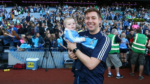 Seaghan Kearney pictured with his son, Ollie, at Croke Park (pic: Peter Hickey- GAApics.com)