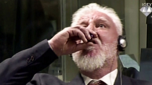 Praljak passed away in hospital after consuming a fluid substance in the courtroom of the International Criminal Tribunal