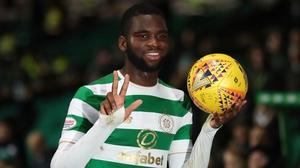 Odsonne Edouard celebrates his treble