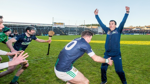Louis Mulqueen shows his delight after the underdogs prevailed at Pearse Stadium
