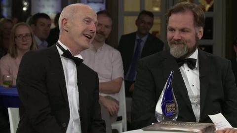 Mike Murphy and John Borgonovo   Bord Gáis Energy Irish Book Awards