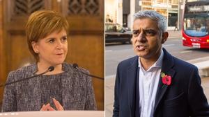 Scottish First Minister Nicola Sturgeon and Mayor of London Sadiq Khan