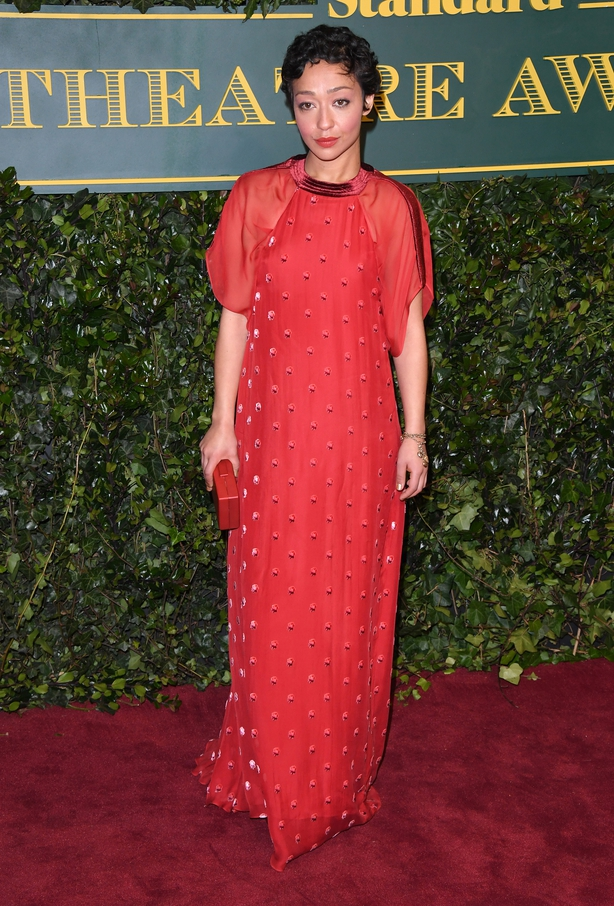 Ruth Negga attends the London Evening Standard Theatre Awards