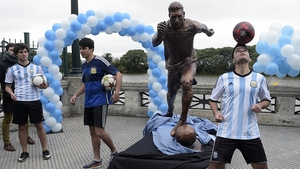 A bronze sculpture of Leo Messi has been repeatedly vandalised