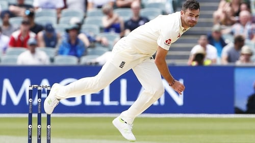 James Anderson has a leg injury