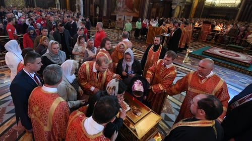 The relics of St Nicholas from Bari on display in Moscow