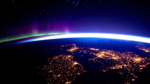 Ireland at night as seen from the International Space Station in 2016. Photo: Tim Peake