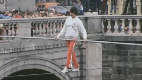 Tightrope Walk Across Liffey