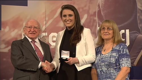 President Higgins presented the awards at Dublin Castle