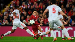 Liverpool's Brazilian midfielder Philippe Coutinho scored a hat-trick for Liverpool