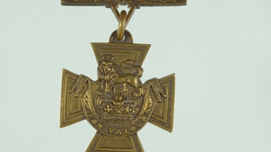 Pte James Duffy was presented with the Victoria Cross by King George V in 1918