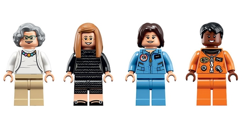 Ready for take-off: Lego figures of NASA women Nancy G. Roman, Margaret Hamilton, Sally Ride and Mae Jemison. Photo: Lego