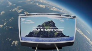 Tourism Ireland said it was the first ever tourist campaign in space