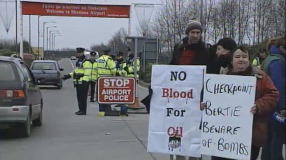 Anti war protesters at Shannon Airport (2002)