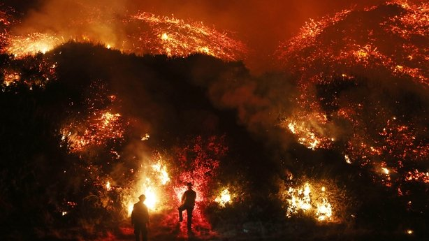 California wildfires: 120000 forced to flee as blazes tear through south of state