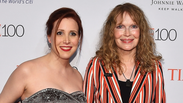Dylan Farrow with her mother Mia Farrow
