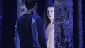 Craig Connolly and Katie Honan star in Let The Right One at the Abbey Theatre. Pic: Roz Kavanagh