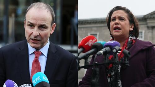 Fianna Fáil leader Micheál Martin and Sinn Féin's Mary Lou McDonald