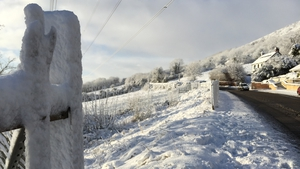 Snow falls were heavier in the north of the country