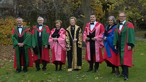 Brian O'Driscoll, Olivia O'Leary and Catriona Crowe were among those awarded honorary degrees at TCD today