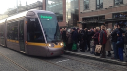 Launch of new Luas Cross City service   RTÉ News