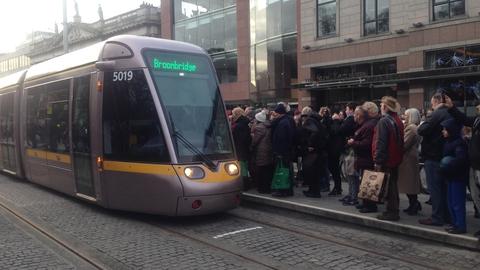 Launch of new Luas Cross City service | RTÉ News