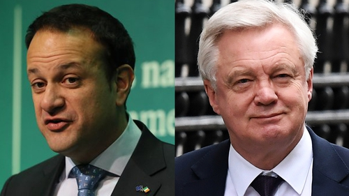 A spokesman for Taoiseach Leo Varadkar issued a statement following comments from Britain's Brexit minister David Davis