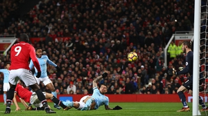 Nicolas Otamendi gives Manchester City the lead at Old Trafford