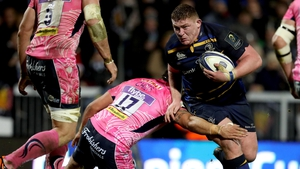 Tadhg Furlong in action against Exeter.