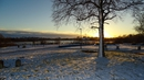 A blanket of snow in Carrick-on-Shannon yesterday evening (Pic: Cian Burns)