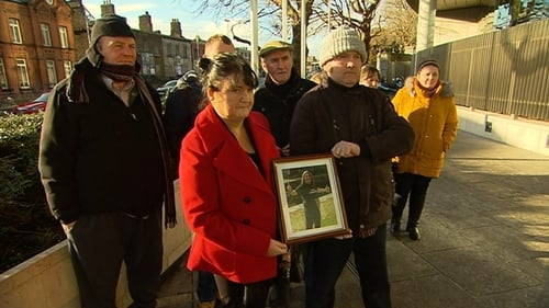 Members of Patsy Kelly's family gathered outside court