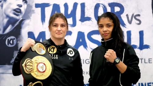 WBA Lightweight World Champion Katie Taylor and Jessica McCaskill