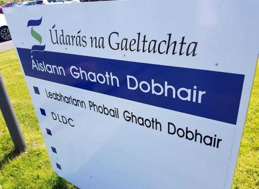 Eibhlín de Paor, Údarás na Gaeltachta, Eoghan Mac Fhionnghaile Fear Gnó, agus Neil Ó Gallchóir printíseach.